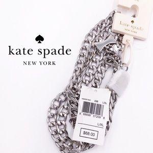 kate spade Silvertone Chain Belt NWT
